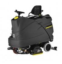 """מכונת שטיפת רצפות תעשייתית - מפעיל רוכב - 5400 מ""""ר/שעה"""